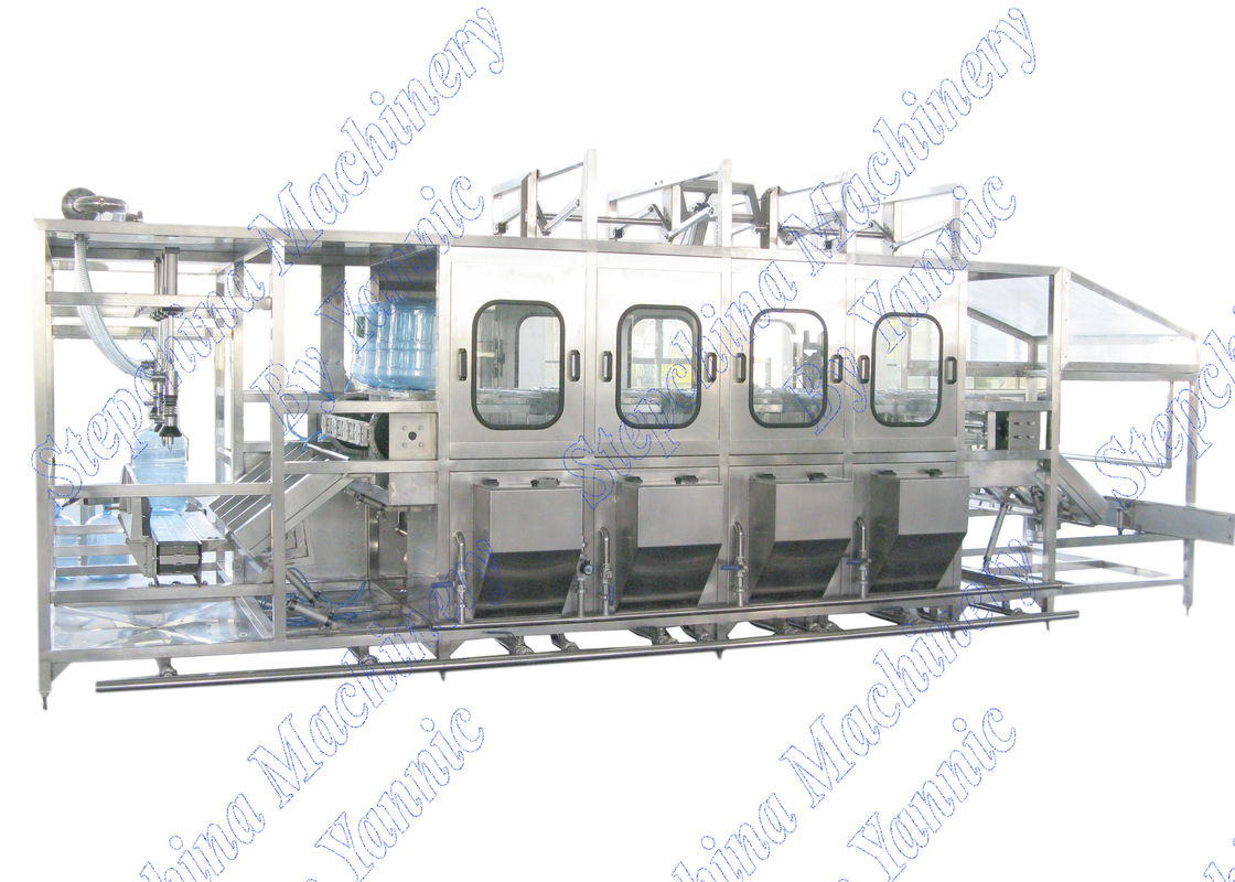 600 BPH 5 Gallon Mineral Water Bottling Machine Auto Inner Washing / Capping