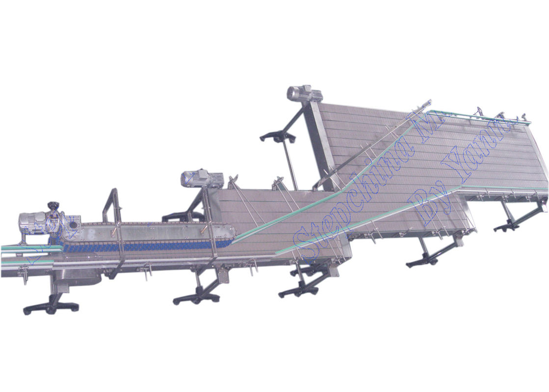 Customized Bottle Conveyor Systems For Empty Bottle Feeding Into Filling Machine